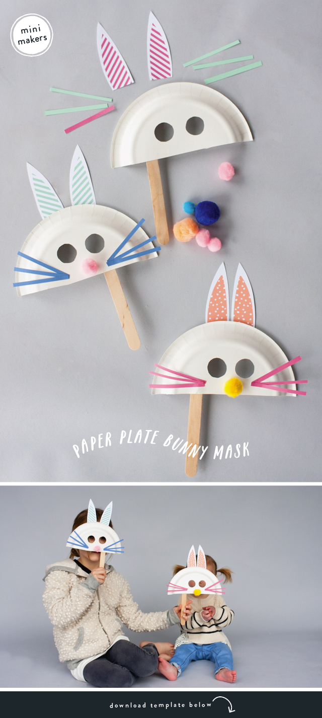 paper-plate-bunny-mask-2 & MINI MAKERS: PAPER PLATE BUNNY MASK | RAE ANN KELLY