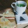ASPARAGUS SOUP with BLT's and avocado