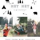 A (local) GIVEAWAY: TREE FARM MINI SESSION (CLOSED)