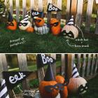 EASY HALLOWEEN PUMPKINS + FELT FLAGS
