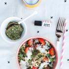 HEALTHY EATS: MY ALMOST FAMOUS ARUGULA + PESTO SALAD