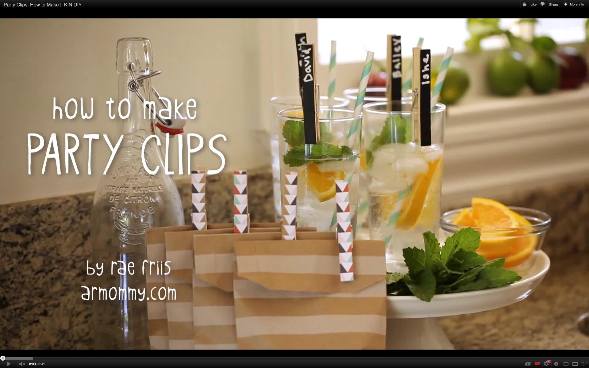 DIY chalkboard clips armommy