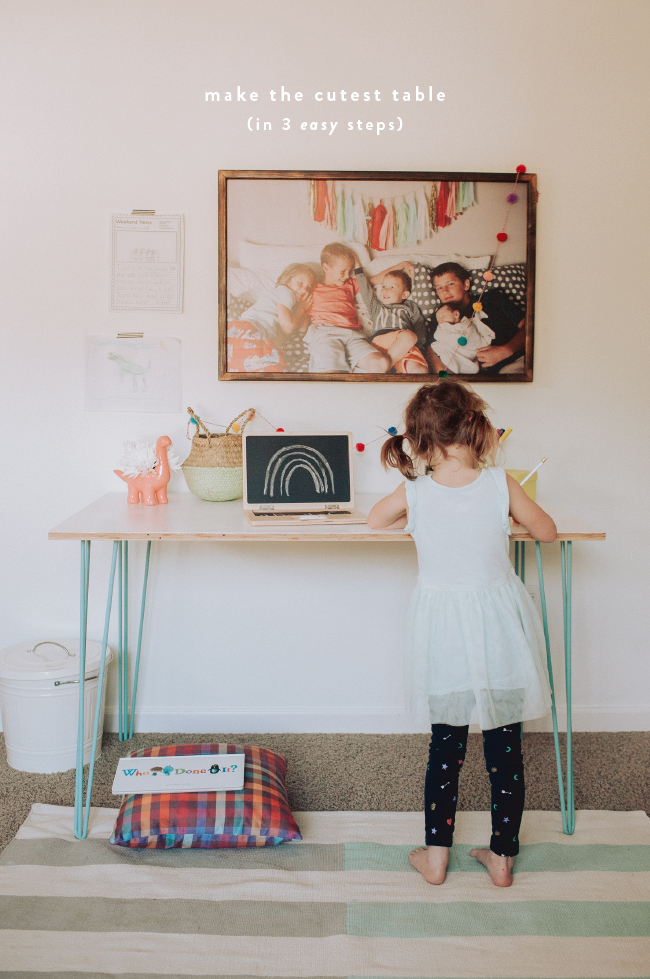 Easy Diy Kids Activity Table A Printed Wood Sign